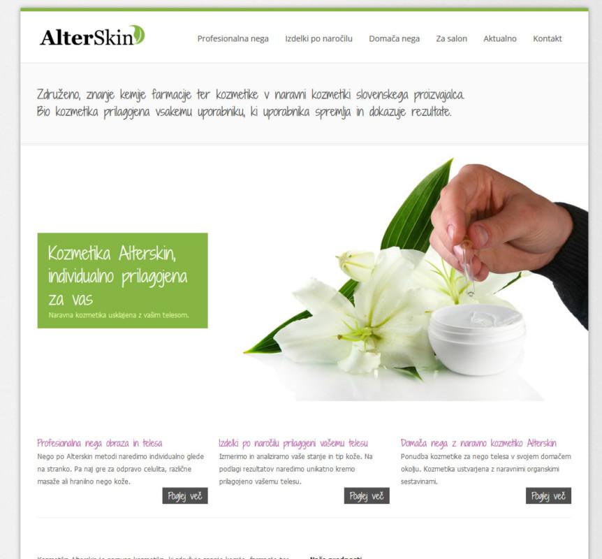 Naravna kozmetika in nega telesa Alterskin