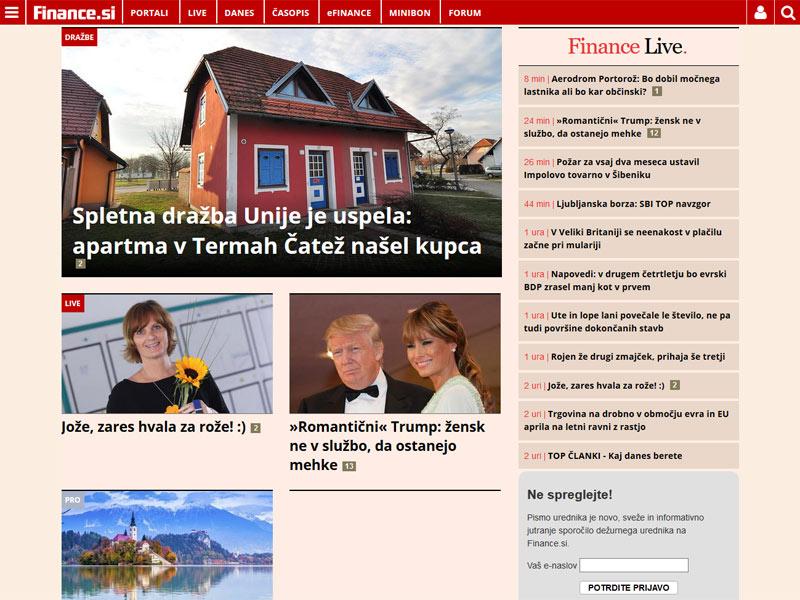 Finance.si – največji slovenski spletni medij za poslovno javnost