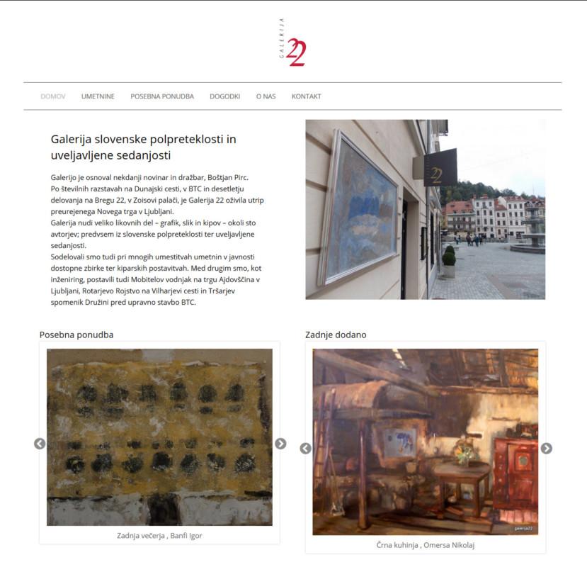 Galerija 22 – prodajna galerija slovenskih umetniških del