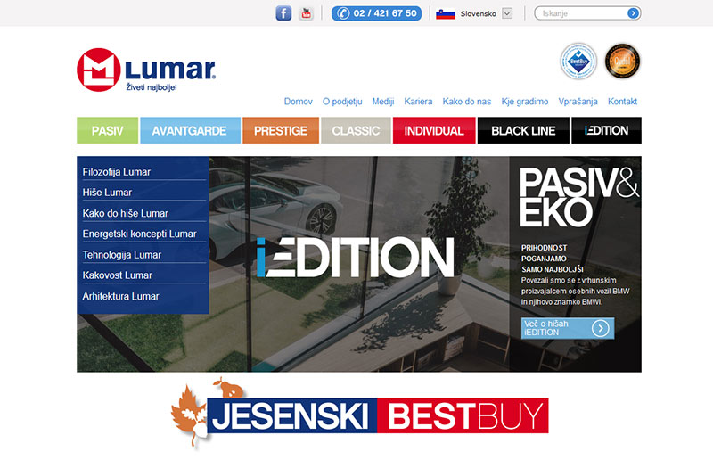 Montažne hiše LUMAR | Živeti najbolje