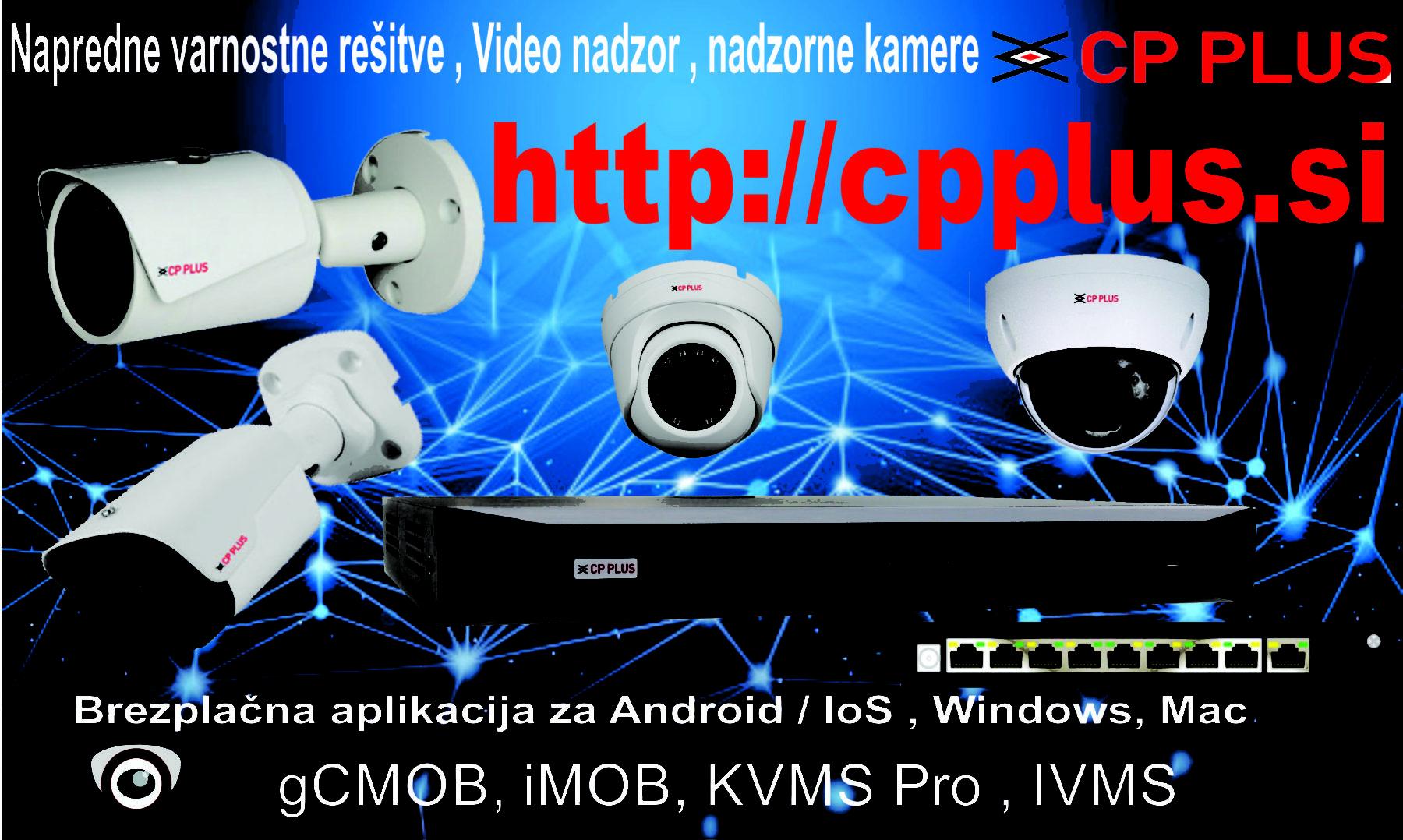 Napredne varnostne rešitve CP PLUS